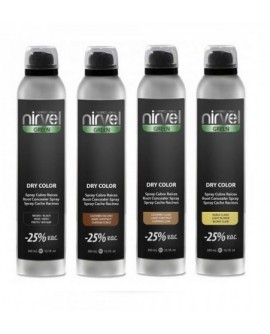 NIRVEL DRY COLOR SPRAY CUBRE RAICES 300 ML